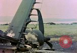 Image of wrecked American Vought FG-1D Corsair airplane Nagasaki Japan, 1945, second 10 stock footage video 65675055939