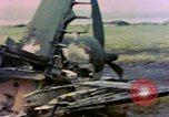 Image of wrecked American Vought FG-1D Corsair airplane Nagasaki Japan, 1945, second 11 stock footage video 65675055939