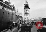 Image of oil tanker blast Alameda California USA, 1957, second 5 stock footage video 65675055944