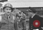 Image of Soldiers board troop ship France, 1955, second 6 stock footage video 65675056007