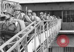 Image of Soldiers board troop ship France, 1955, second 9 stock footage video 65675056007
