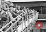Image of Soldiers board troop ship France, 1955, second 10 stock footage video 65675056007