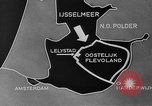 Image of Dredging Oostelijk Flevoland Netherlands, 1957, second 5 stock footage video 65675056031
