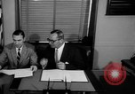 Image of Official signs document Washington DC USA, 1956, second 2 stock footage video 65675056074