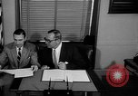 Image of Official signs document Washington DC USA, 1956, second 3 stock footage video 65675056074