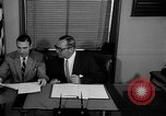Image of Official signs document Washington DC USA, 1956, second 4 stock footage video 65675056074