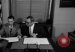 Image of Official signs document Washington DC USA, 1956, second 5 stock footage video 65675056074