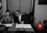 Image of Official signs document Washington DC USA, 1956, second 7 stock footage video 65675056074