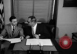 Image of Official signs document Washington DC USA, 1956, second 10 stock footage video 65675056074