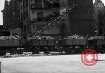 Image of bomb damage and rebuilding in Munich after war Munich Germany, 1946, second 9 stock footage video 65675056085