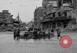 Image of barricade Stuttgart Germany, 1945, second 8 stock footage video 65675056150