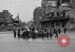 Image of barricade Stuttgart Germany, 1945, second 12 stock footage video 65675056150