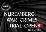 Image of war crime trials Nuremberg Germany, 1945, second 1 stock footage video 65675056154