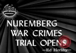 Image of war crime trials Nuremberg Germany, 1945, second 2 stock footage video 65675056154