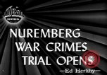 Image of war crime trials Nuremberg Germany, 1945, second 4 stock footage video 65675056154