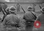 Image of German spies apprehended in US uniforms are executed by firing squad Bruchsal Germany, 1945, second 20 stock footage video 65675056155