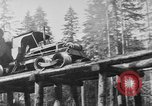 Image of wooden track Aberdeen Washington, 1930, second 9 stock footage video 65675056181