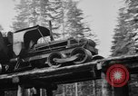 Image of wooden track Aberdeen Washington, 1930, second 11 stock footage video 65675056181