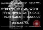 Image of police raid at garage Chicago Illinois USA, 1932, second 5 stock footage video 65675056184