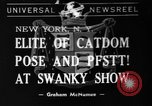 Image of 39th Annual Cat Show New York United States USA, 1941, second 1 stock footage video 65675056193