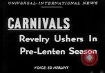 Image of carnival celebration Europe, 1952, second 1 stock footage video 65675056217