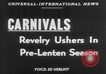 Image of carnival celebration Europe, 1952, second 2 stock footage video 65675056217