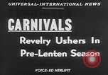 Image of carnival celebration Europe, 1952, second 3 stock footage video 65675056217