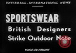 Image of sportswear fashion show United Kingdom, 1952, second 1 stock footage video 65675056218