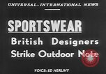 Image of sportswear fashion show United Kingdom, 1952, second 2 stock footage video 65675056218