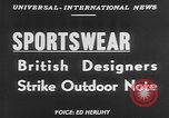 Image of sportswear fashion show United Kingdom, 1952, second 4 stock footage video 65675056218