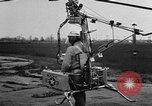 Image of demonstration of Pinwheel portable helicopter California United States USA, 1957, second 7 stock footage video 65675056224