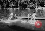 Image of water ski show Florida United States USA, 1957, second 6 stock footage video 65675056228