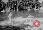 Image of water ski show Florida United States USA, 1957, second 10 stock footage video 65675056228