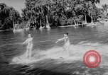 Image of water ski show Florida United States USA, 1957, second 11 stock footage video 65675056228