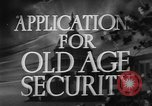 Image of application for social security United States USA, 1936, second 4 stock footage video 65675056254