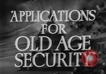 Image of application for social security United States USA, 1936, second 5 stock footage video 65675056254