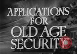 Image of application for social security United States USA, 1936, second 6 stock footage video 65675056254