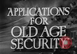 Image of application for social security United States USA, 1936, second 8 stock footage video 65675056254