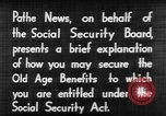 Image of application for social security United States USA, 1936, second 10 stock footage video 65675056254