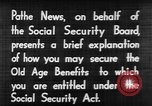 Image of application for social security United States USA, 1936, second 11 stock footage video 65675056254