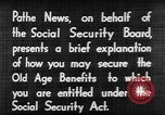 Image of application for social security United States USA, 1936, second 12 stock footage video 65675056254
