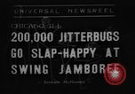 Image of large crowd of jitterbugs Chicago Illinois USA, 1938, second 1 stock footage video 65675056260
