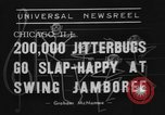 Image of large crowd of jitterbugs Chicago Illinois USA, 1938, second 4 stock footage video 65675056260