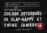 Image of large crowd of jitterbugs Chicago Illinois USA, 1938, second 5 stock footage video 65675056260
