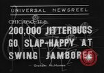 Image of large crowd of jitterbugs Chicago Illinois USA, 1938, second 6 stock footage video 65675056260