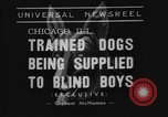 Image of trained dogs Chicago Illinois USA, 1938, second 2 stock footage video 65675056261