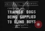 Image of trained dogs Chicago Illinois USA, 1938, second 3 stock footage video 65675056261