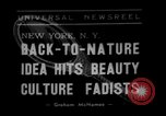 Image of vegetable facial beauty treatment New York United States USA, 1938, second 1 stock footage video 65675056262