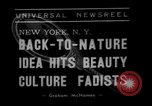 Image of vegetable facial beauty treatment New York United States USA, 1938, second 2 stock footage video 65675056262