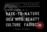 Image of vegetable facial beauty treatment New York United States USA, 1938, second 3 stock footage video 65675056262